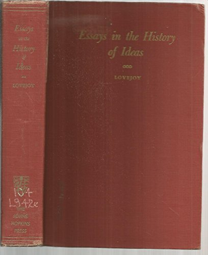 9780801803925: Essays in the History of Ideas