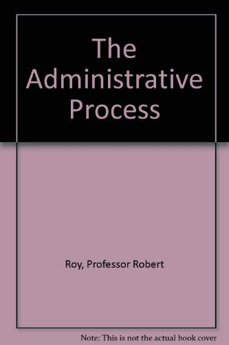 9780801805677: The Administrative Process