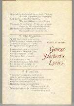 9780801806131: George Herbert's Lyrics
