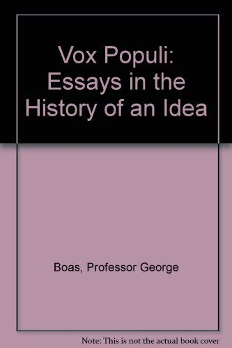 9780801810091: Vox Populi: Essays in the History of an Idea