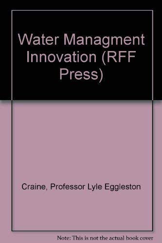 Water Managment Innovations in England: Craine, Lyle E.