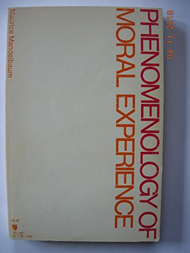 9780801810954: Phenomenology of Moral Experience (Johns Hopkins Paperback)