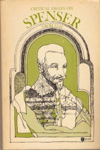 9780801811999: Critical Essays on Spenser from ELH (Johns Hopkins paperbacks, JH-78)