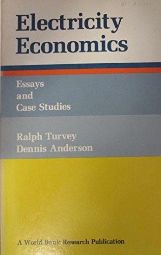 Essay Electricity  Abebooks Electricity Economics  Essays And Case Studies International Bank For