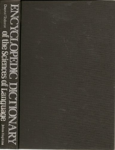 Encyclopedic Dictionary of the Sciences of Language (080182155X) by Oswald Ducrot; Tzvetan Todorov