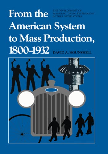 9780801831584: From the American System to Mass Production, 1800-1932: Development of Manufacturing Technology in the United States: The Development of Manufacturing Technology in the United States