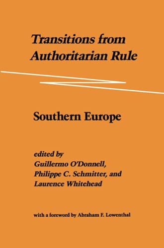 9780801831904: Transitions from Authoritarian Rule, Vol. 1: Southern Europe