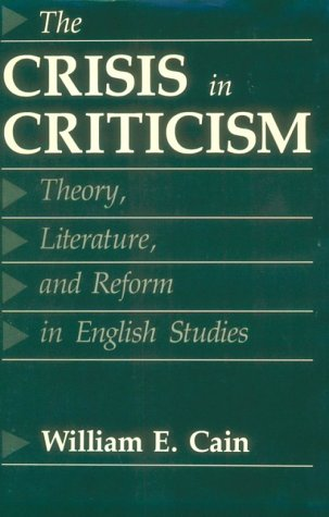 9780801831911: The Crisis in Criticism: Theory, Literature, and Reform in English Studies