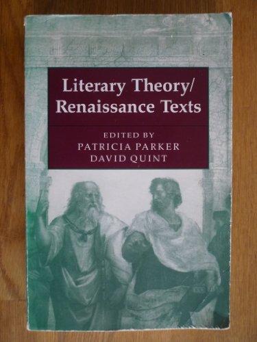 9780801832956: Literary Theory/Renaissance Texts