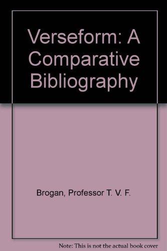 9780801833625: Verseform: A Comparative Bibliography