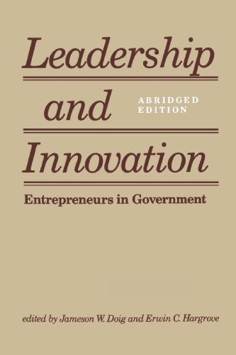 9780801839788: Leadership and Innovation: Entrepreneurs in Government
