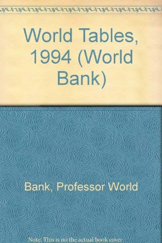 9780801847899: World Tables, 1994 (World Bank)