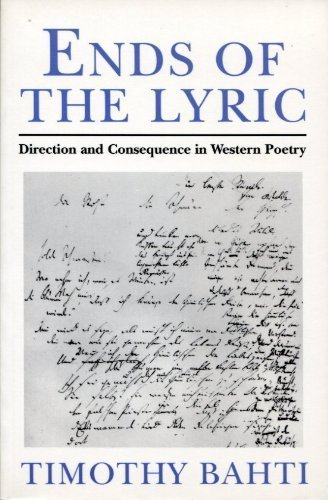 9780801851933: Ends of the Lyric: Direction and Consequence in Western Poetry