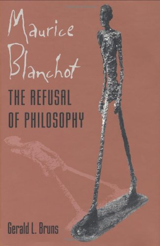 9780801854712: Maurice Blanchot: The Refusal of Philosophy