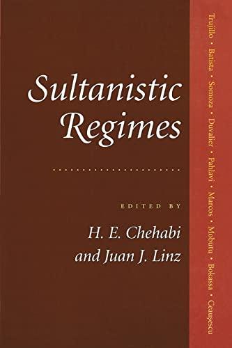 9780801856945: Sultanistic Regimes