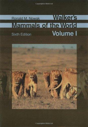 Walker's Mammals of the World (2-Volume Set) (v. 1) Format: Hardcover: Dr. Ronald M. Nowak
