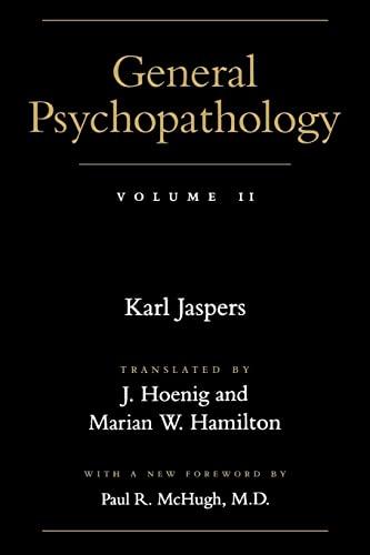 9780801858154: General Psychopathology: Volume 2