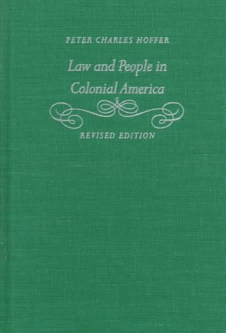 9780801858222: Law and People in Colonial America