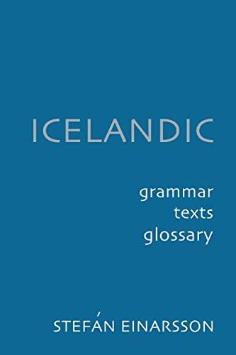 9780801863578: Icelandic: Grammar, Texts, Glossary