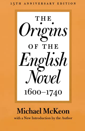9780801869594: The Origins of the English Novel, 1600-1740