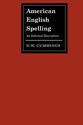 American English Spelling: Cummings