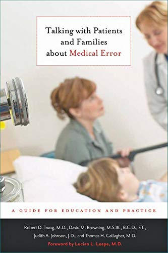 9780801898044: Talking with Patients and Families about Medical Error: A Guide for Education and Practice