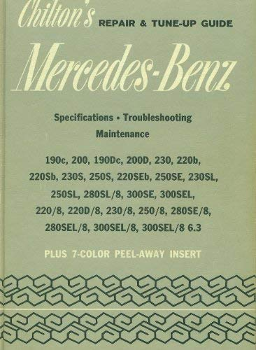9780801955365: Chilton's Repair and Tune-up Guide for the Mercedes-Benz