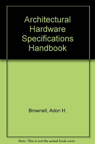 9780801955655: Architectural hardware specifications handbook