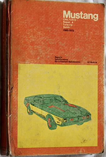 9780801957413: Chilton's repair and tune-up guide: Mustang