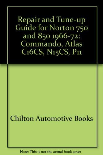 9780801959134: Repair and Tune-up Guide for Norton 750 and 850 1966-72: Commando, Atlas C16CS, N15CS, P11
