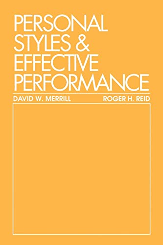 9780801968990: Personal Styles & Effective Performance