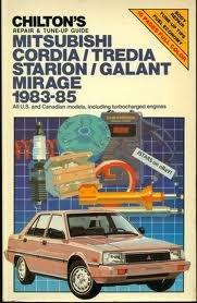 Mitsubishi Cordia, Tredia and Starion Galant, 1983-85: Chilton Automotive Editorial