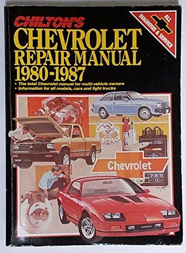 9780801977725: Chilton's Chevrolet Repair Manual, 1980-1987