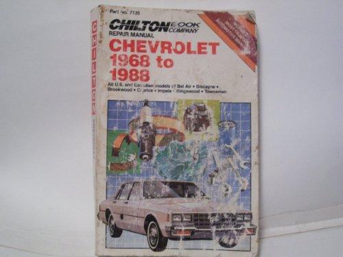 9780801978432: Chilton's Chevrolet 1968 to 1988 Repair Manual