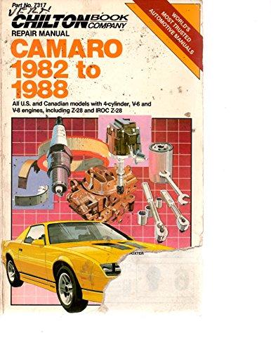 Repair and Tune-up Guide for Camaro 1982-88: Chilton Automotive Books