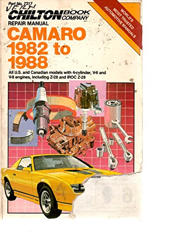9780801978470: Repair and Tune-up Guide for Camaro 1982-88