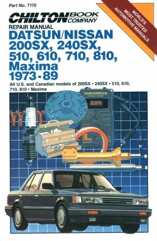 9780801978524: Datsun/Nissan Maxima 1973-89 Repair Manual (Chilton model specific automotive repair manuals)