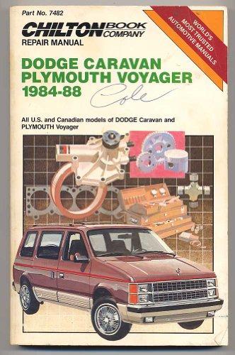 9780801979316: Dodge Caravan/Plymouth Voyager 1984-88 Repair Manual