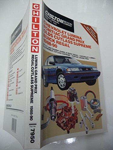 9780801979507: Chevrolet Lumina, Pontiac Grand Prix, Oldsmobile Cutlass Supreme, Buick Regal, 1988-90 Repair Manual
