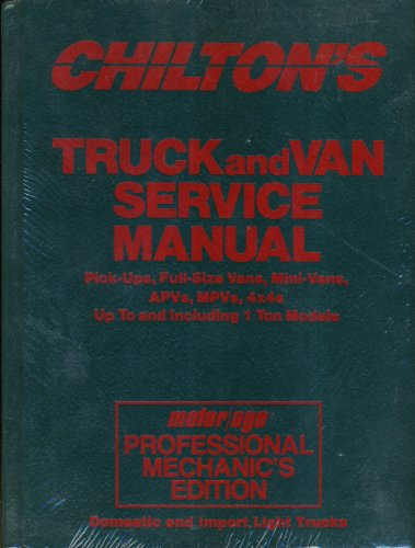 9780801980480: Chilton's Truck and Van Service Manual 1986-1990: Motor/Age Professional Mechanic's Edition