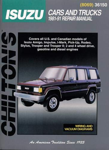 9780801980695: Chilton's Total Car Care Repair Manual: Isuzu Trooper Repair Manual (Chilton Total Car Care)