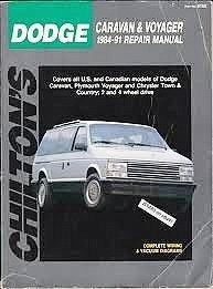 9780801981555: Dodge Caravan/Plymouth Voyager 1984-91 Repair Manual (Total Car Care)