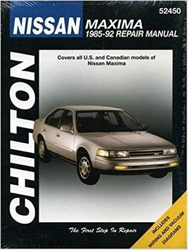 9780801982613: Nissan Maxima, 1985-92 (Chilton Total Car Care Series Manuals)