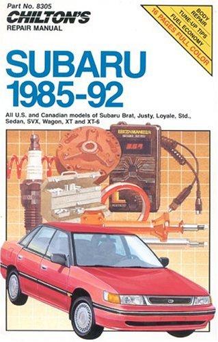 9780801983054: Subaru, 1985-92 (Chilton's Repair Manual)