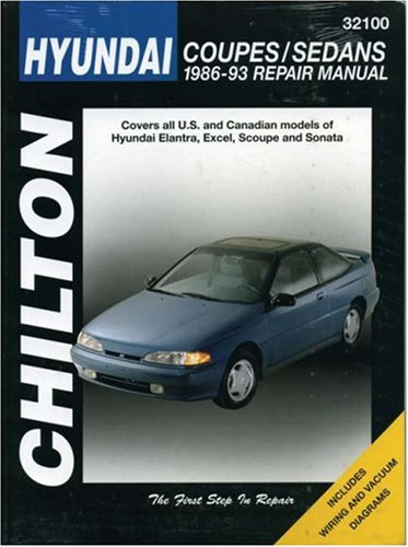 9780801984129: Hyundai Coupes and Sedans, 1986-93 (Chilton Total Car Care Series Manuals)