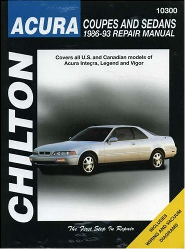9780801984266: Acura Coupes and Sedans, 1986-93 (Chilton Total Car Care Series Manuals)