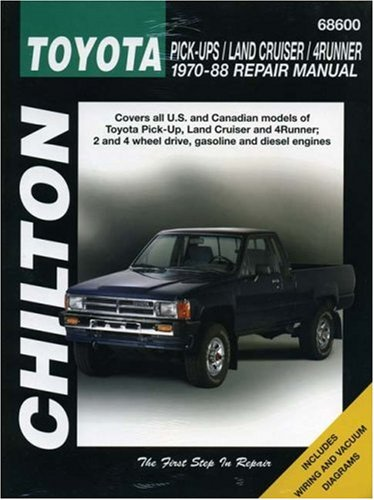 9780801985782: Toyota Pick-ups, Land Cruiser, and 4-Runner, 1970-88 (Chilton Total Car Care Series Manuals)