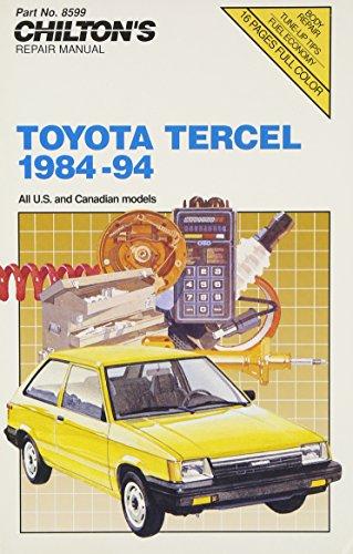 9780801985997: Toyota Tercel, 1984-94 (Chilton Model Specific Automotive Repair Manuals)