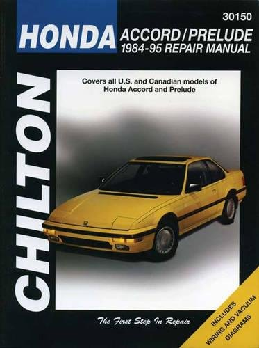 9780801986802: Honda Accord and Prelude, 1984-95 (Chilton Total Car Care Series Manuals)
