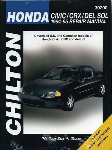9780801986833: Honda Civic, CRX, and Del Sol, 1984-95 Repair Manual (Chilton Automotive Books)